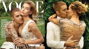 Justin and Hailey Bieber Vogue