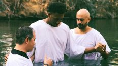 Watch Lecrae Get Baptized Again in the Jordan River